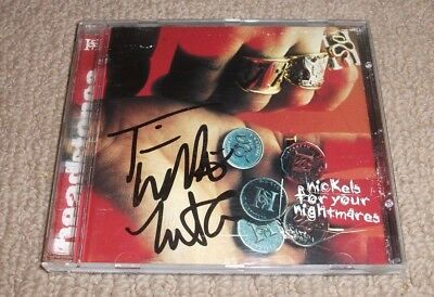 Headstones - Signed Nickels For Your Nightmares Cd *autographed By 2 Members*