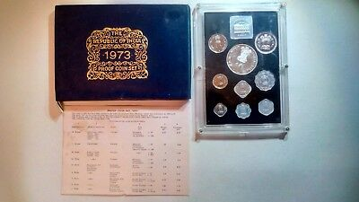 1973 Republic of India proof coin set. Everything is included in picture.