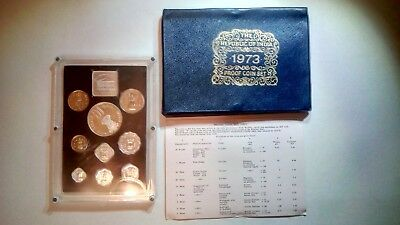 1973 Republic of India proof coin set. Everything in the picture comes with.