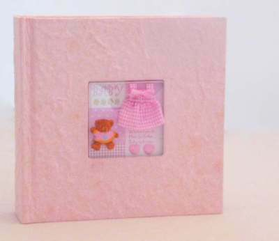 200 Pic Newborn Baby Pink Photo Album Teddy Bear Cover Shower Girl Gift Memory