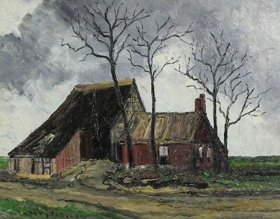 Vernon Southward - A Flemish Farm, Original Mid 20th Century Oil Painting