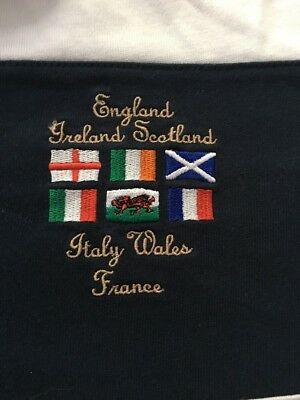 Rugby Jersey - Large - England, Ireland, Scotland, Italy, Wales, France