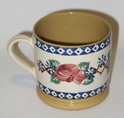 "Nicholas Mosse Pottery Ireland Kilfane Rose Small 2 3/4"" Mug - retired pattern"