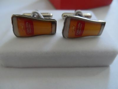 Carlton Draught Beer Glass Cuff Links In Box