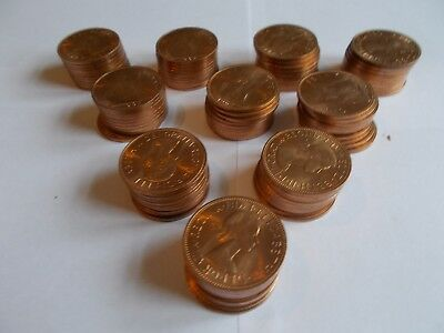 100 Uncirculated 1967 Pennies from Original Mint Sealed Bag