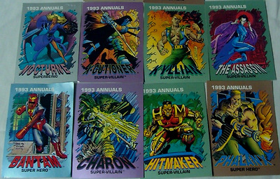 1993 Marval Comic Annuals-8 cards