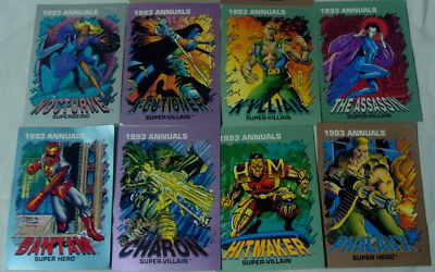 1993 Marvel Comic Annuals-8 Cards