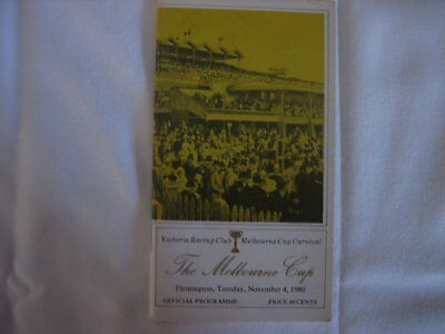 1980 MELBOURNE CUP Race Book
