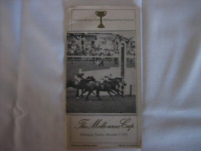 1974 MELBOURNE CUP Race Book