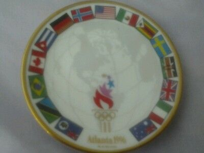 1996 atlanta rare small plate circular approximately 3 ins by 3 ins