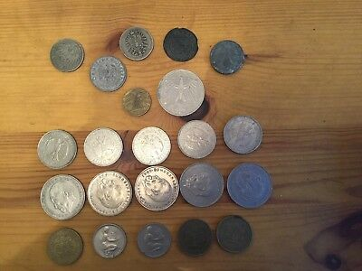 German Coins 20 Marks Imperial 1876 10pf 50pf 1935 Jetton