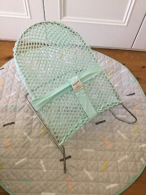 Baby Bouncer Mint,cotton,webbing,washable, As New Excellent Condition