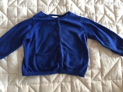 Seed Baby Girls Cobalt Blue Cardigan 6-12 Months