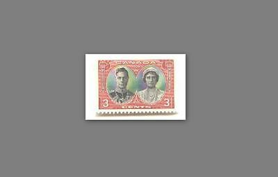 #CU Canada 1930's King George VI and Queen Picture Stamp - Very Nice - Not Used
