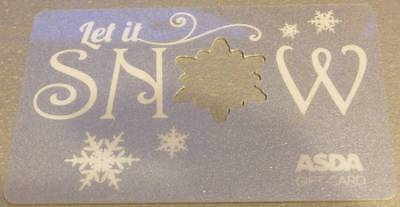 LET IT SNOW Christmas - ASDA Gift Card - NO CREDIT - COLLECTABLE ITEM