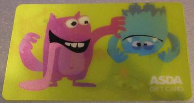 MONSTERS Lenticular - ASDA Gift Card - NO CREDIT - COLLECTABLE ITEM