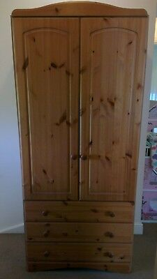 Lovely Compact Wardrobe, Soild Pine Doors & Drawer Fronts...