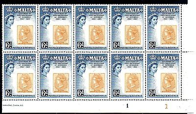 2 Blocks Of 12 Stamps From Malta 1960.