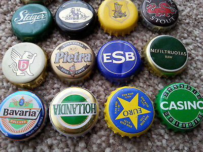 16 X  Beer Bottle Top Crown Caps