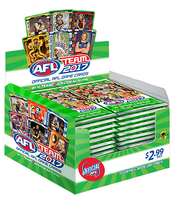 Official Afl Teamcoach 2017 Game Cards **brand New And Sealed**