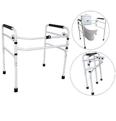 Toilet Support Frame Folding Height Adjustable Commode Toilet