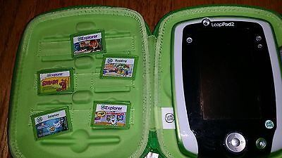Leap pad 2 console green, case and 5 games