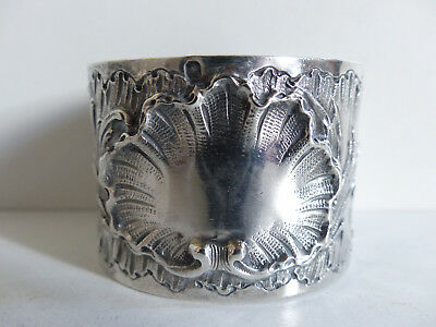 Superb Antique French Sterling Silver 950 Napkin Ring