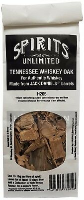 Spirits Unlimited Jack Daniels Tennessee Whiskey Chips - 100 Grams Home Brew EZ