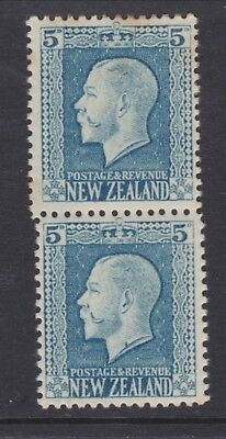 New Zealand.  5d blue George V Vertical pair both perforations Mint SG 424db