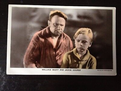 Wallace Beery & Jackie Cooper - Film Partner Series Postcard - Excellent