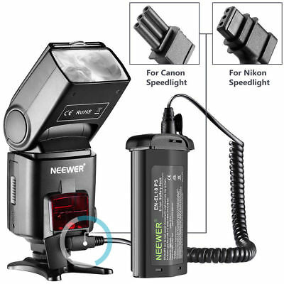 New Rechargeable Li-ion External Flash Battery Pack for Canon Nikon Neewer Flash