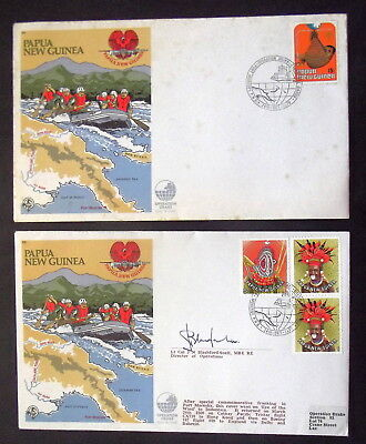 Papua New Guinea - 1979 Operation Drake, One Signed  - Covers