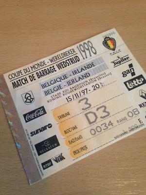1997 Belgium V Republic Of Ireland - World Cup Qualifier - Used Ticket