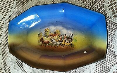 Vintage Pottery Plate Dickens Days H & K Tunstall England