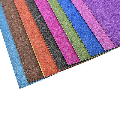 A4 Glitter Card 10 Sheets Same Colour Soft Touch DIY Craft Invitations Party 5HU