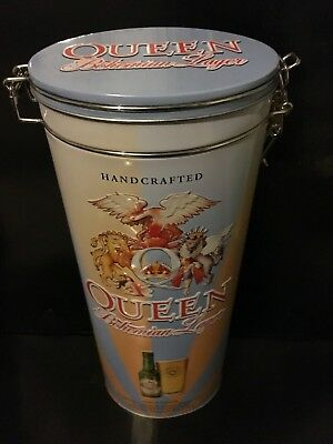 Queen Bohemian Rhapsody Lager - Empty Tall Storage Tin / Excellent Condition