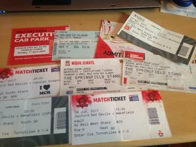 9 x RUGBY LEAGUE MIXED MATCH TICKETS