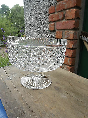 Massive Tyrone Crystal large footed Bowl Stunning piece Fully stamped