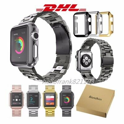 Edelstahl Armband Strap Band inkl. Adapters für Apple Watch Series 4 3 44mm 42mm
