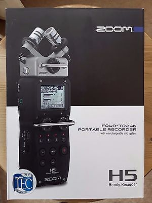 Zoom H5 Portable Hand-held Field Recorder w/ Interchangeable Microphone System