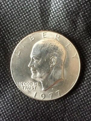 Dwight Eisenhower United States Ike Silver Dollar 1977