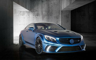 "MERCEDES BENZ S63 AMG BRABUS DIAMOND A2 CANVAS PRINT POSTER 23.4"" x 15.4"""