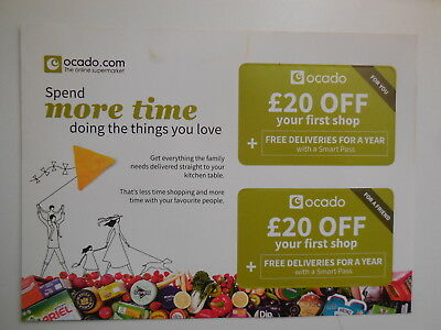 £20 Off First Shop Ocado Voucher For You And Friend & YEAR delivery