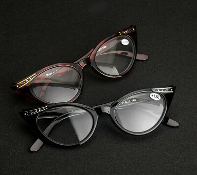 New Retro Women Vintage Cat Eye Black Leopard Reading Glasses Readers +1.0~+3.50