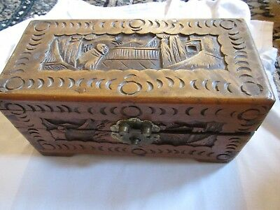 vintage chinese wooden box/chest