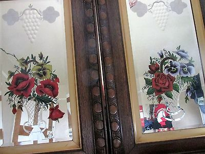 Antique victorian painted mirrors x 2