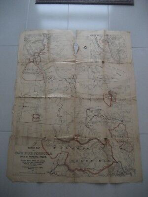 1935 Cape York Peninsula Gold & Mineral Fields Map