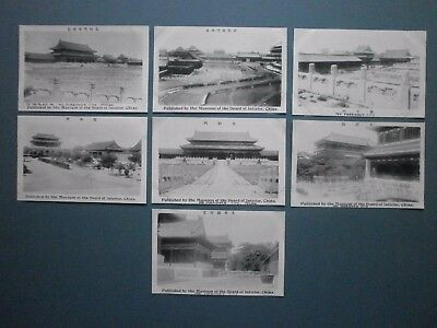 7 X 1927 Pc Forbidden City, Peking Pub'd By Museum Of Board Of Interior China