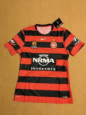 Nike Western Sydney Wanderers FC Home Players Jersey Mens Size L BNWT