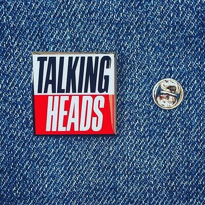 Talking Heads Pin Badge David Byrne New York New Wave Music